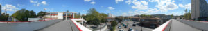 Vue des allées de Bellefontaine depuis la passerelle au droit de la station du Métro ligne A