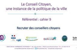 Recruter des conseillers citoyens